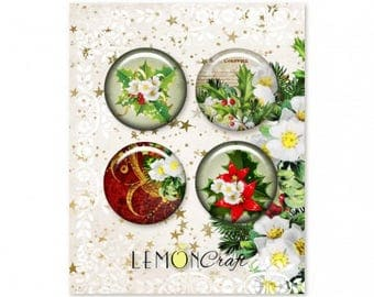 NEW Lemoncraft Christmas Carols Buttons / Badges