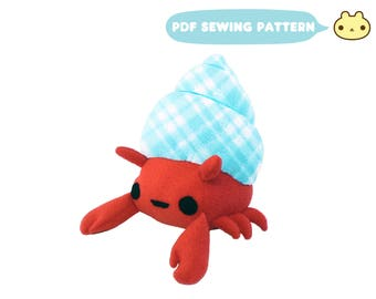 Sea Creature Pattern, Sea Life Plush Toy , Sea Crab Pattern, Stuffed Animal Pattern, DIY Sea, Stuffed Sea Toy PDF, Aquatic Plush Crab Toy
