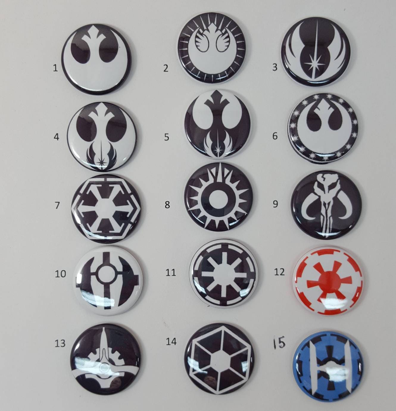 Star wars pins magnets or flatbacks hairbow diy rebel alliance 050 buycottarizona Choice Image