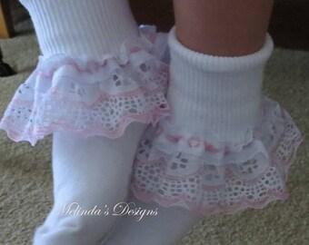 Lace Socks Ruffled Socks Baby Socks Easter Socks Infant Socks Frilly Socks Girls Socks Christening Sock Wedding Socks Toddler Socks Babygift