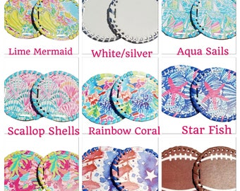 Two Sets Monogrammed Medallions/ Interchangeable Medallions for Sandals