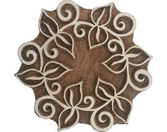 Round shapeStamp Mandala Stamp Indian Wood Stamp Wood Block Stamp