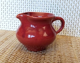 Cranberry Pottery Creamer