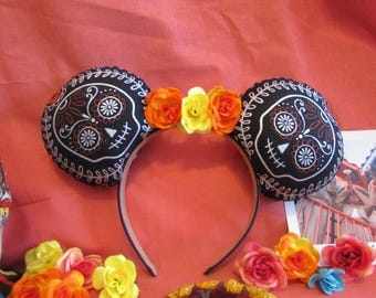 Day of the Dead Coco inspired Mouse Ears / Headband