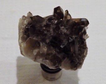 Smokey Black Quartz Gemstone Wine Bottle Stopper (#254)--   Gemstone Wine Stopper//Geodes//Crystals//Minerals