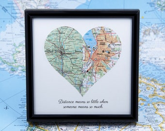 Long Distance Relationship Custom Map Atlas Long Distance Boyfriend Gift Romantic Gifts for Him Boyfriend Christmas Gift Top Selling Items