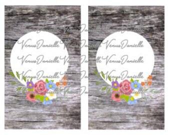 Digital Cover~ Wooden Floral Pocket TN Cover, Printable Pocket Cover, Wood, Floral, Printable Cover, Printable Dashboard