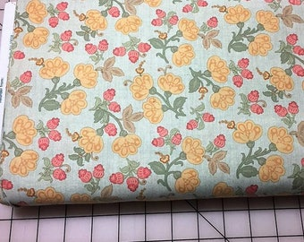 Pink & Yellow Floral Cotton Woven