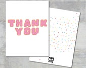 Donut Thank You Card Set - 35 count - Envely Cards