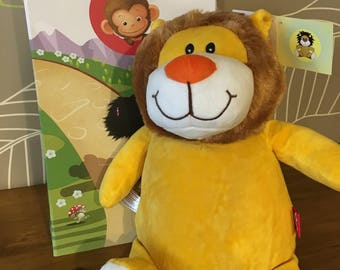 Ideal gift personalized quality plush with gift box. Lion model.