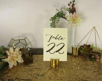 Gold Table Number Holders ~ Gold Card Holder ~ Gold Table Card Holder ~ Table Number ~ Gold Wedding Decor ~ Table Number Holder