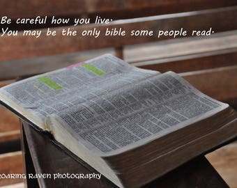 You are the only bible some people every see--photo in old church