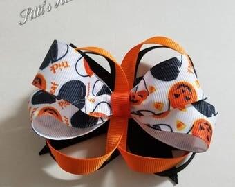Halloween Hair Bow/Clip, Halloween Hair Accessories, Halloween Ponytail Bow, Halloween Pigtail Bow, Baby Bow/Clip, Toddler Bow/Clip