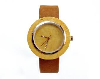Golden Marble Watch Real Stone Watch