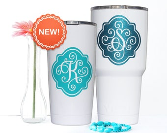Yeti Decal - Monogram Decal - Yeti Tumbler Decal - Yeti Rambler Decal - Yeti Cup Decal - Yeti Monogram - Yeti Decal for Women