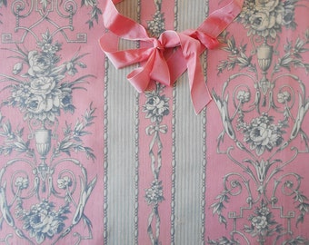 Antique French Fabric Ribbon Bows Louis XVI Style