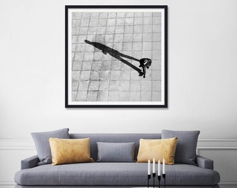 Black and white Photography Prints, Black and White Wall Art, Square Print, London Print, Black and white, Birds Eye View, New Home Gift