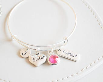 Gifts for sister, Sister birthday gift, Sister Christmas Gift, sister bracelet,Personalized sister gift,Sister jewelry, sister wedding gift