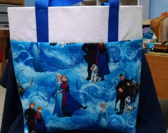 Disney Frozen Kids Book Bag Library Tote Bag Dance Bag Disney's Frozen Tote Bag Gift Bag