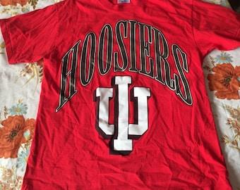 Vintage Indiana University T-Shirt, Hanes, Medium