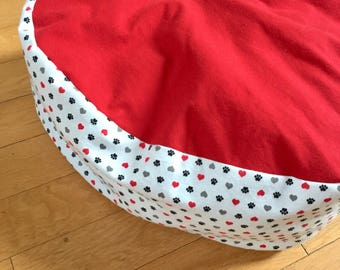 Heart Cat bed - heart, valentine, heart cat bed, soft, washable, handmade