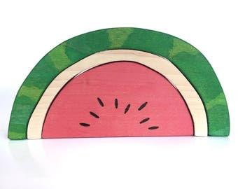 Watermelon Blocks Wood Toy Stacker