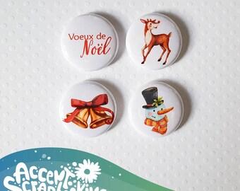 "Badge 1 ""- Christmas greetings"