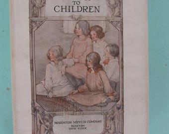 The Kindergarten Children's Hour Vol. 3 Talks To Children 1920 Free Shipping