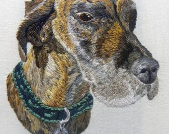 Pet Portrait, custom needlepoint