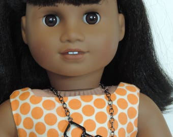 Geeky Glasses Necklace for American Girl Dolls and other 18 inch dolls