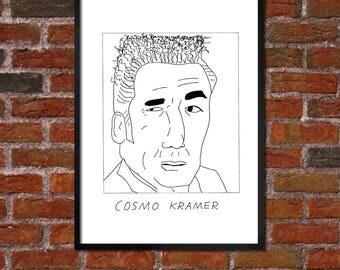 Badly Drawn Kramer - Poster - Seinfeld - *** BUY 4, GET A 5th FREE***