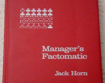 Manager's Factomatic by Jack Horn, 1988 Binder