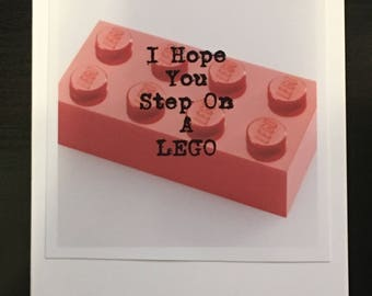 Greeting Card | Blank Inside | Envelope included | Original Photography | LEGO