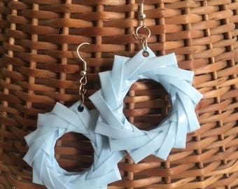 Blue Origami Earrings