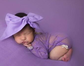 LILAC Gorgeous Wrap- headwrap; fabric head wrap; purple head wrap; newborn headband; baby headband; toddler headband; baby headwrap