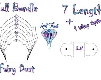"Fairy Dust/Full Bundle/Cloth Pad Pattern/2.5"" Snapped Width/Leak Freak Compatible"