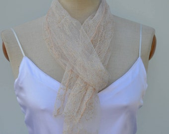 Lace, ivory lace, Bridal stole scarf shawl, evening, ivory chantilly lace man soft, chic scarf lace scarf