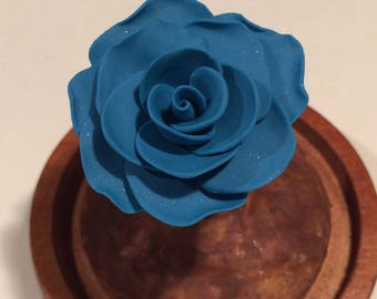Beauty and the Beast rose, blue rose, rose in glass, forever rose, rose in a dome, enchanted rose, rose dome, fake rose, rose, Sale,