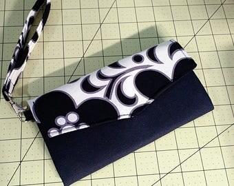 Handmade Tri-fold Wallet Wristlet