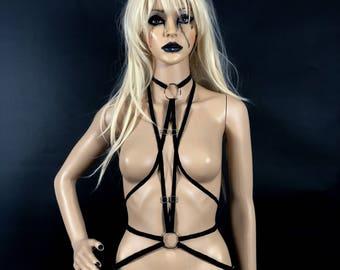 The Devil- Tarot Body Harness Adjustable Elastic Unisex
