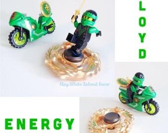 Ninjago: Masters of Spinjitzu Movie Inspired Fidget Hand Spinners - with FREE AWESOME Ninja Motorcycle Set!