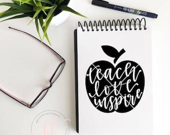 Teach Love Inspire SVG - Teach Love Inspire - Teacher SVG - School SVG - Teacher Life svg - Teacher Appreciation - Teacher Love