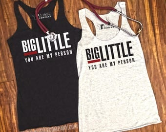 Big and Little You're My Person Grey's Anatomy Women's Lightweight Tank XS-2X