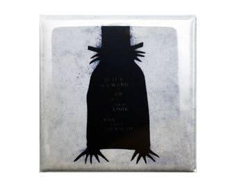 """The Babadook Custom Made Cult Horror 1.5 inch x 1 1/2"""" Square Magnet Psychological Film"""
