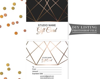 Gift card template | Etsy