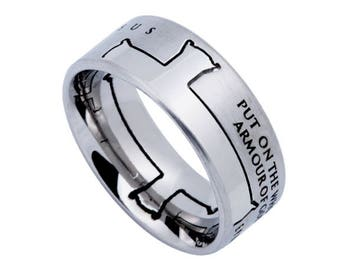 """Iron Cross Ring """"Armour Of God"""""""