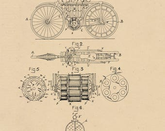 Electric Bicycle Patent #596272 dated December 28, 1897.
