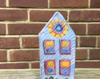 Little Blue House Vase