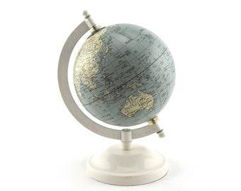 Small Mid Century Earth Globe - Vintage 1960s World Globe