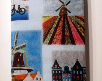 Fabric covered notebook, Holland (lined paper)